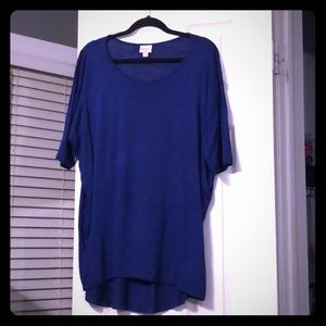 Bright navy tunic - the Irma by LuLaRoe
